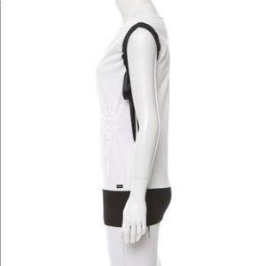 Chanel Black and White Top w/ Satin Sashes.